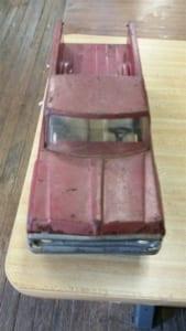 An antique toy truck